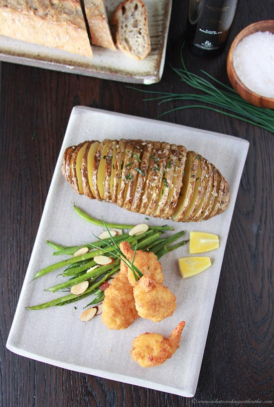 kitchens to go baxton studio kitchen cart butterfly shrimp, hasselback potatoes, and almond green ...