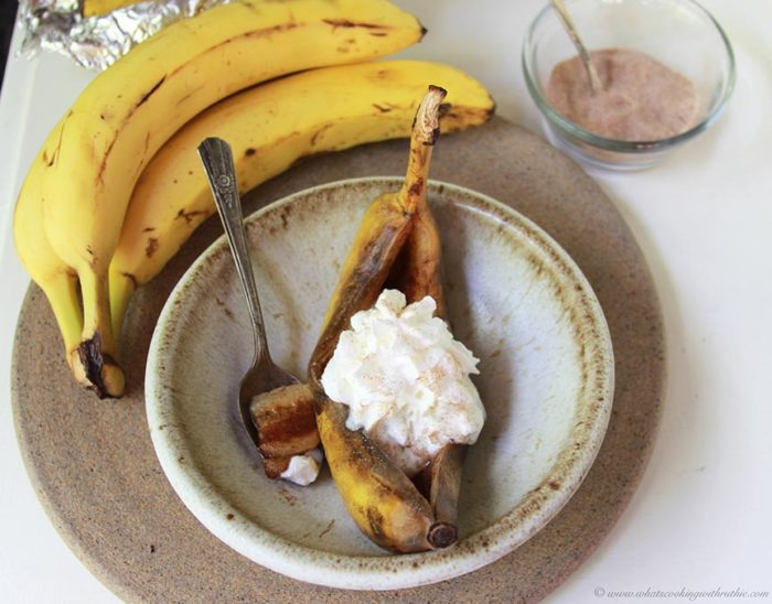 Foiled Cinnamon Sugar Bananas  Cooking With Ruthie