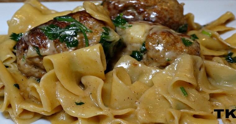 Parmesan Swedish Meatballs Pasta