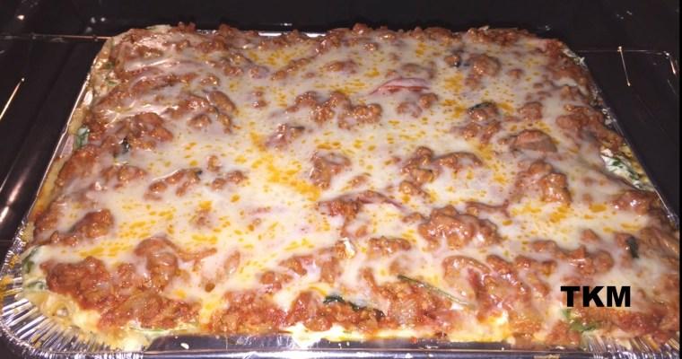 Ground Turkey Zucchini Veggie Lasagna