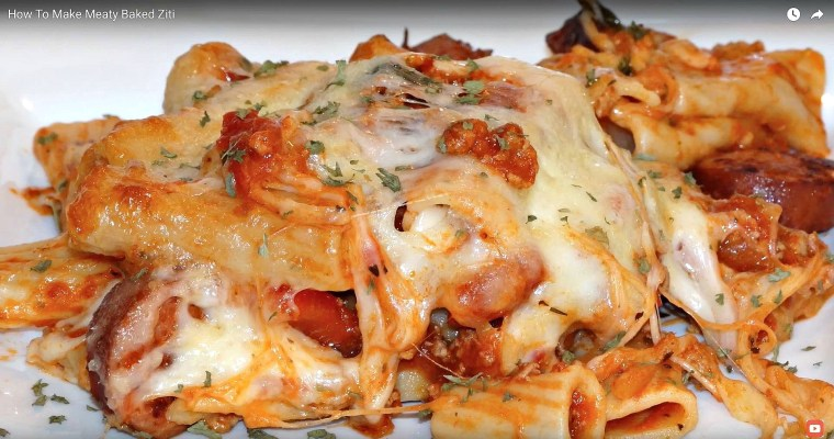 Baked Ziti With Meat And Sausages