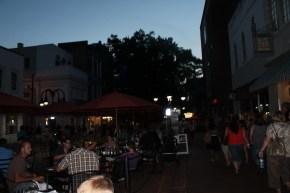 The pedestrian mall