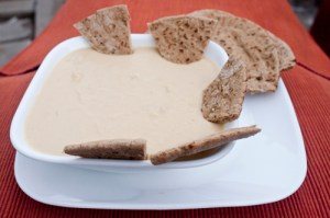 Wheeler Cowperthwaite/Nevada Appeal Hummus is shown with whole-wheat pita bread. I lightly toast the pita bread first. I've found Trader Joe's is good for both the tahini, in the refrigerated aisle, and for the pita bread,