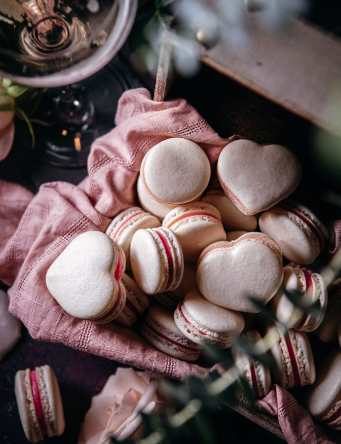 Strawberry and Bubbly Macarons