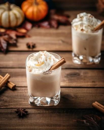 Pumpkin Spice White Russian Cocktail