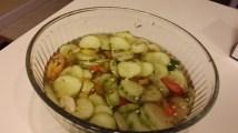 cucumbers banana peppers