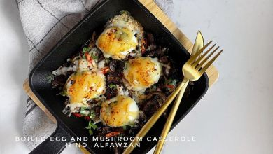 بيض مسلوق بالفطر وصفة لذيذة جدًا  *المقادير والطريقة: -في القليل من زيت الزيتون+