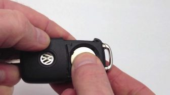 vw key fob battery replacement, change volkswagen key fob battery
