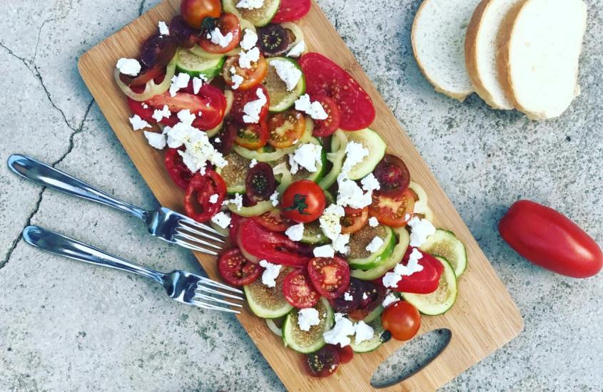 Tomaten Feigen Salat mit Ricotta