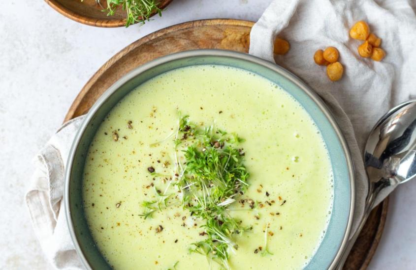 Kartoffel Kresse Suppe