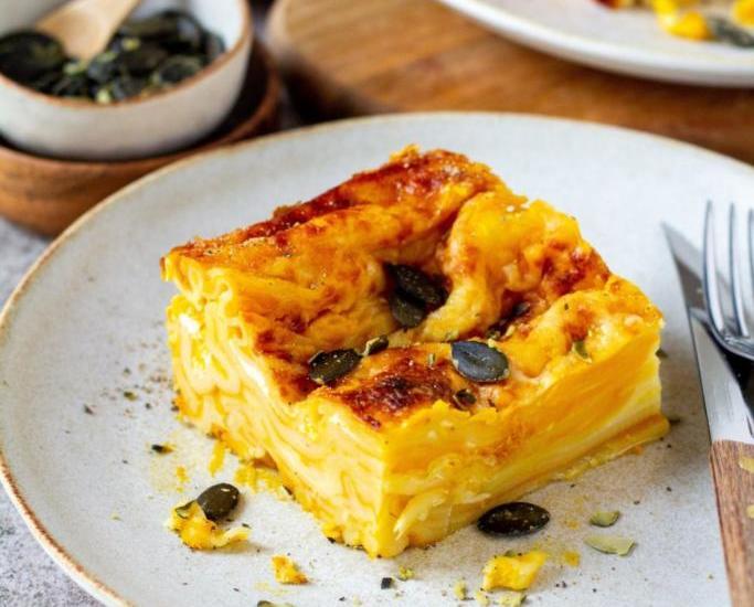 Kürbissuppen Lasagne                                                                          Die Lasagne mit dem gewissen EXTRA