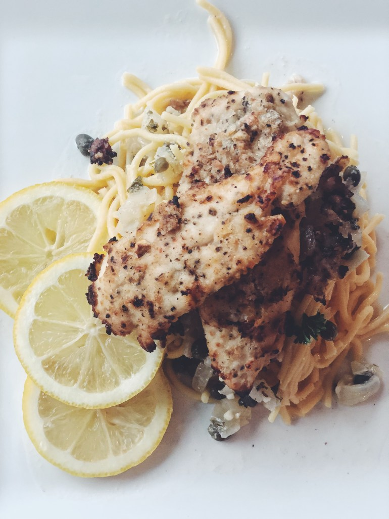 Healthy Chicken Piccata Recipe with Quinoa Pasta