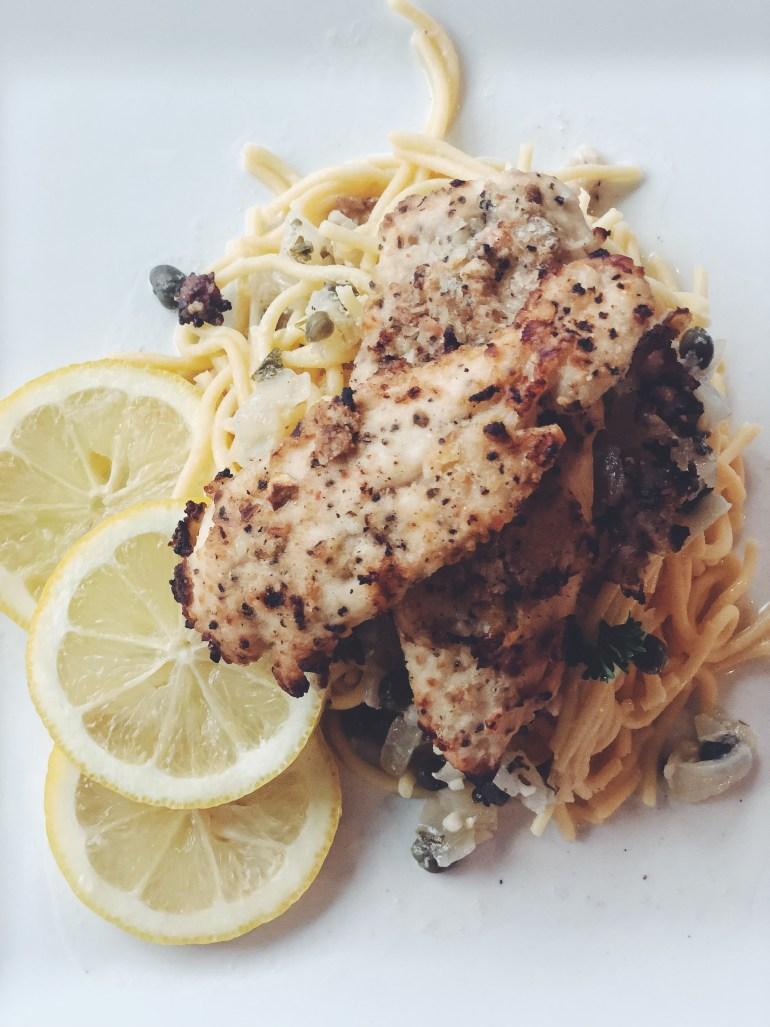 Healthy Chicken Piccata Recipe with Quinoa Pasta