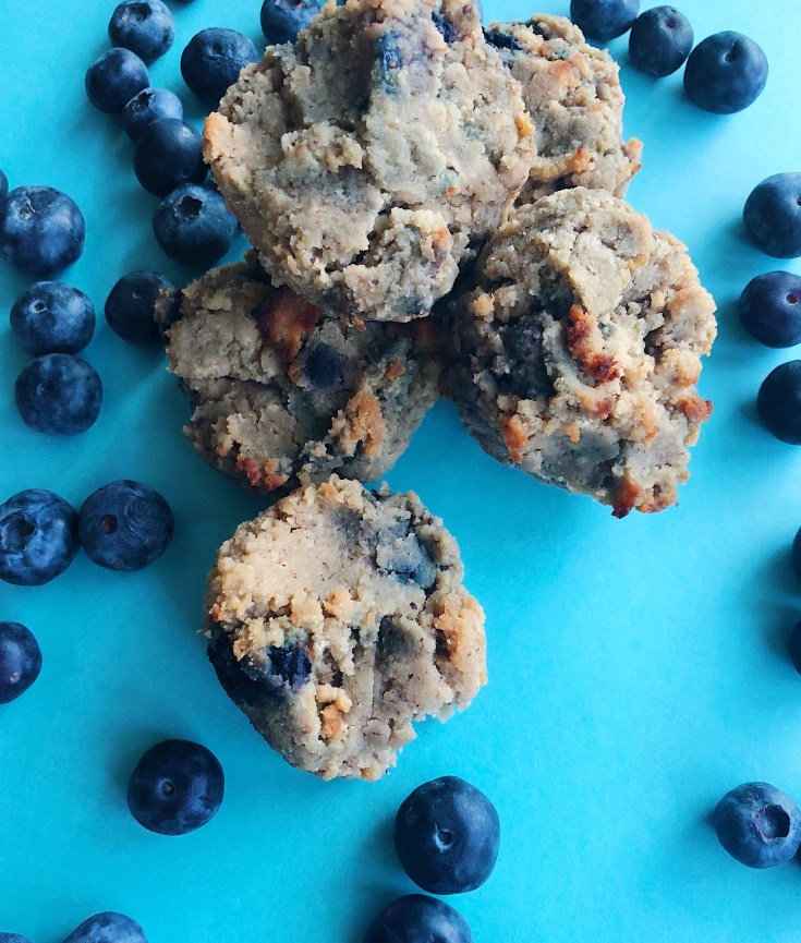 Melt In Your Mouth Gluten Free Blueberry Banana Muffins
