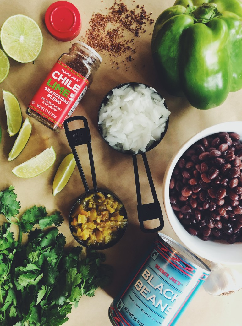 RECIPE | Healthy Refried Trader Joe's Black Beans with Green Chiles