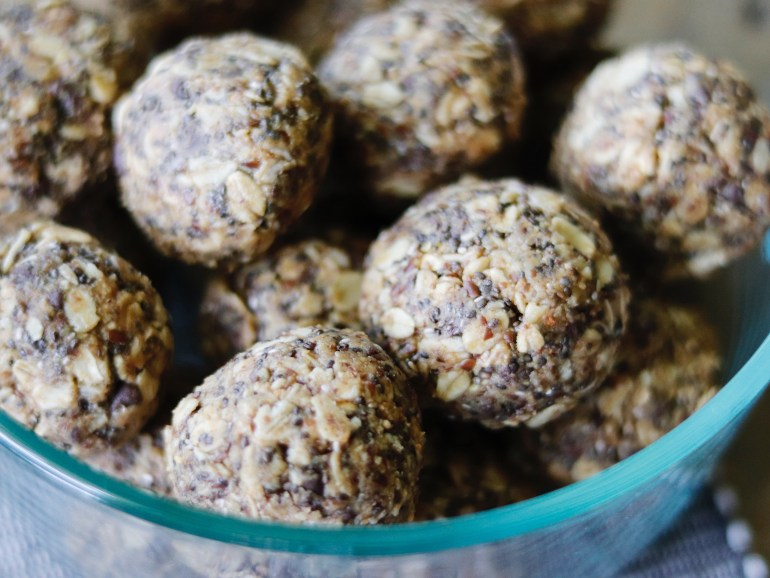 RECIPE   Chocolate Chip Peanut Butter No-Bake Lactation Balls   cookithealthier.com