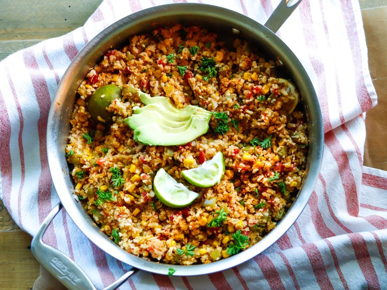 RECIPE | The Best DAMN Spanish (Cauliflower) Rice | cookithealthier.com