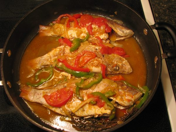 jamaican red snapper steamed fish