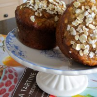oatmeal & apple muffins with almond butter