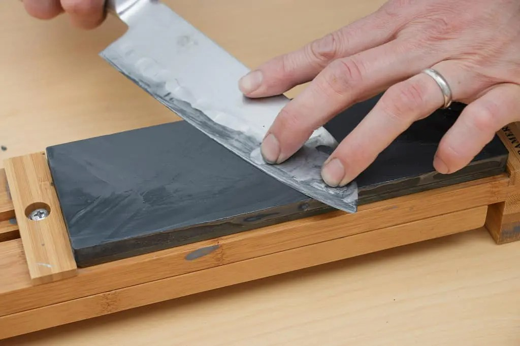 Sharpening A Knife With A Knife