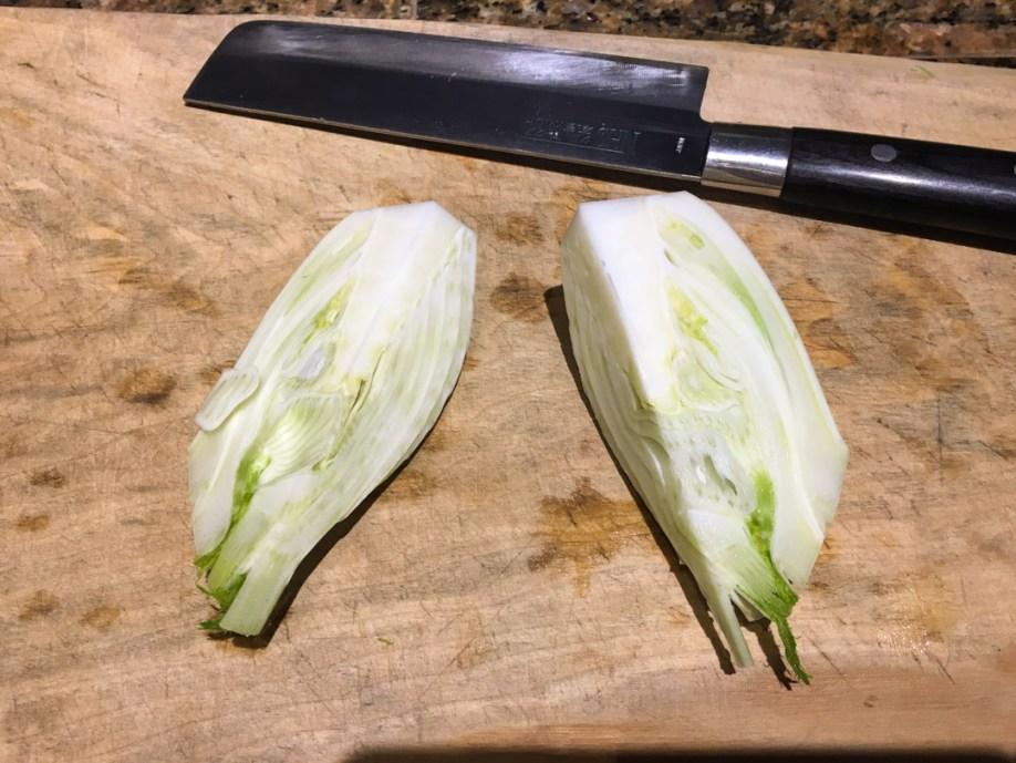 fennel- quartered