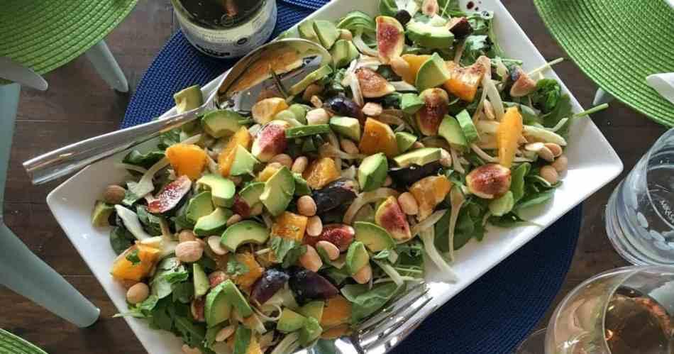 Fresh Arugula and Fig Salad