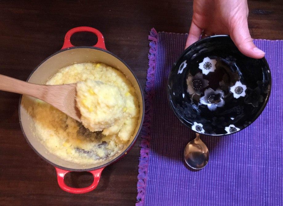 serving-polenta
