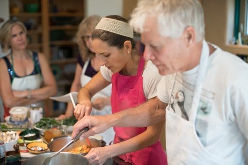 photo of Chef Rachel teaching an in-home cooking class