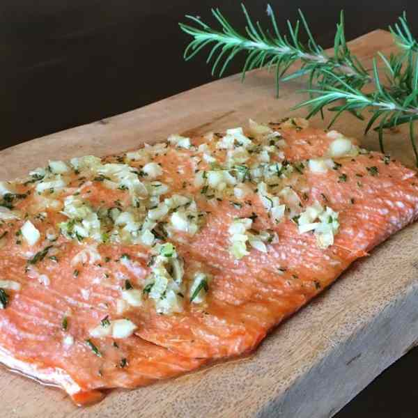 Baked Wild Salmon with Rosemary and Garlic