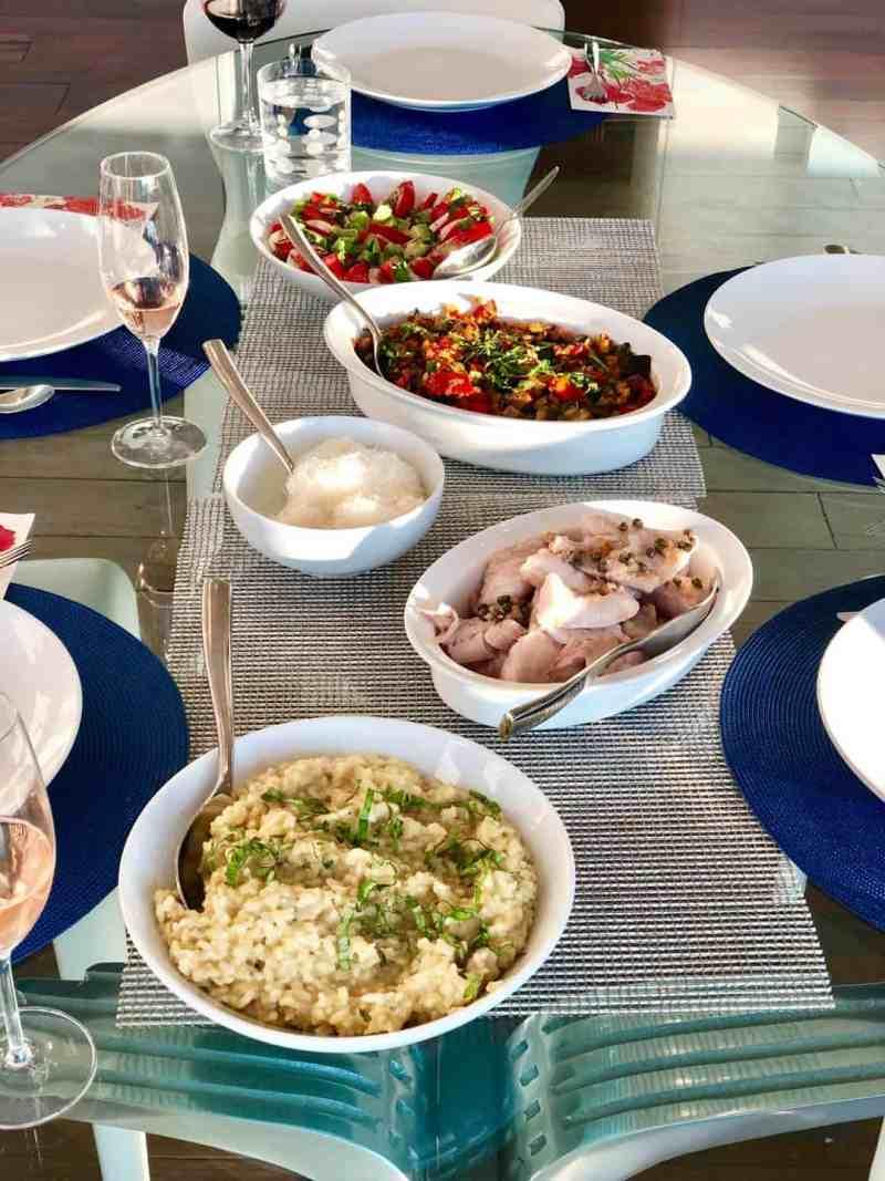 Photo of Italian meal with caponata