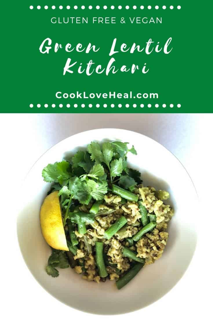 Green Lentil Kitchari • Cook Love Heal by Rachel Zierzow