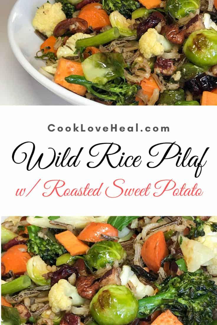 Wild Rice Pilaf with Roasted Sweet Potatoes • Cook Love Heal by Rachel Zierzow