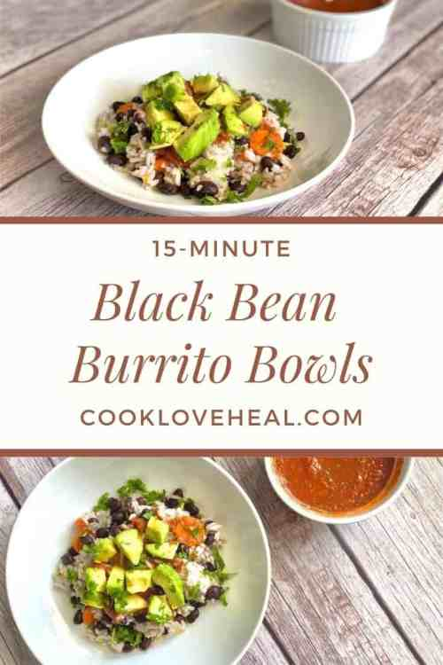 Black Bean Burrito Bowl • Cook Love Heal by Rachel Zierzow