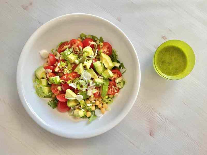 Chickpea Salad with Cilantro Lime Dressing