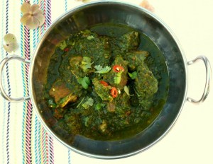 Low FODMAP Lamb and Spinach Curry
