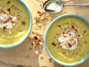 Low FODMAP parsnip, coconut soup,