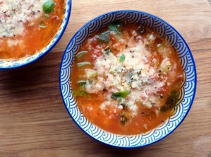 Low FODMAP Minestrone Soup