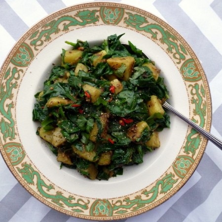 Low FODMAP, spinach and potato