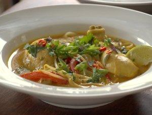 Low FODMAP, chicken, Laksa, Malaysian soup