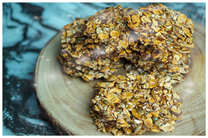 Almond and Mixed Seeds Florentines