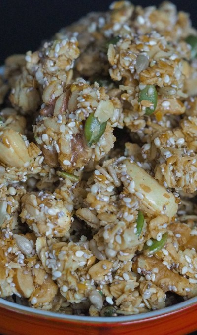 How to make clusters of healthy granola