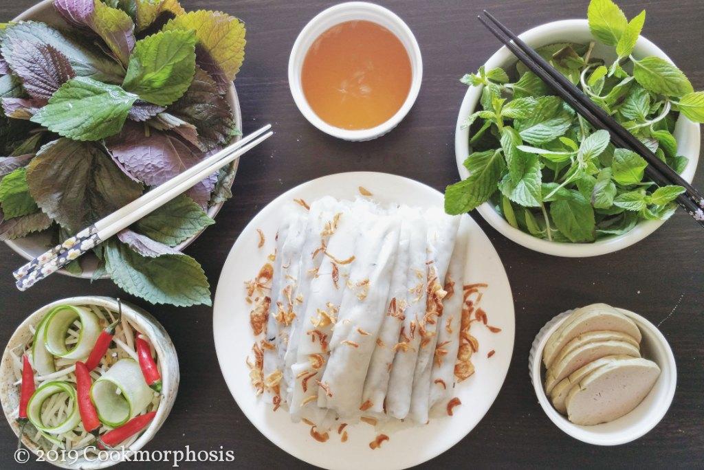 rice rolls banh cuon
