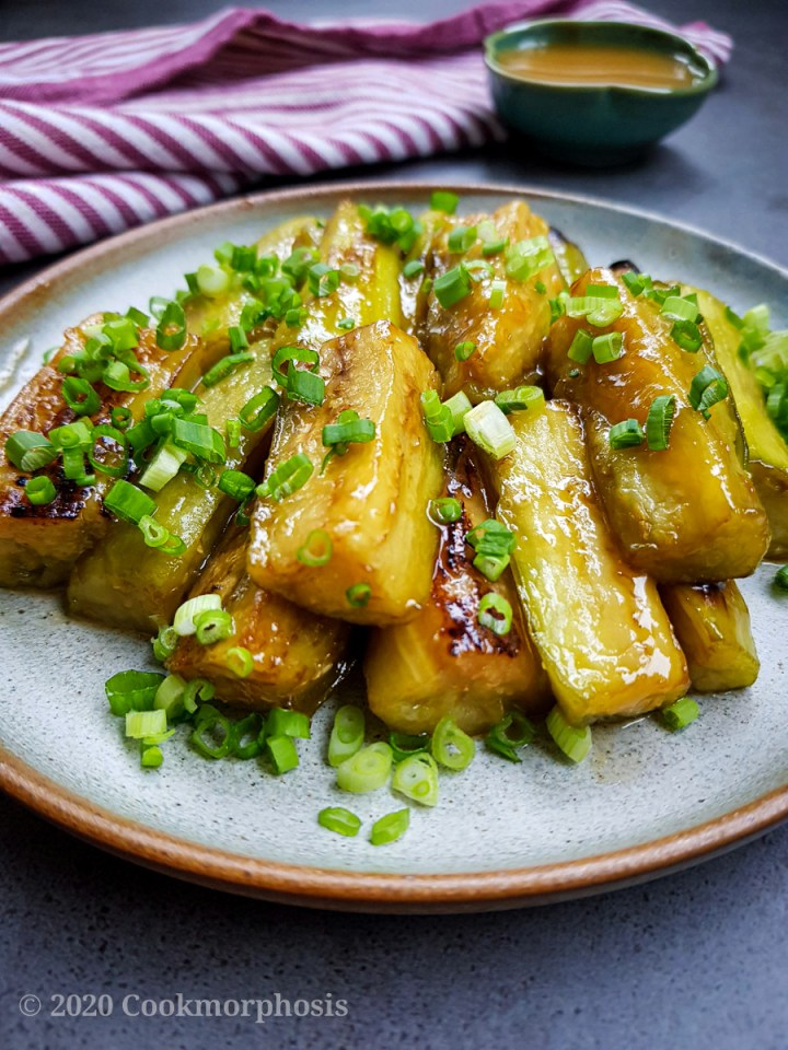 Japanese sweet miso eggplants