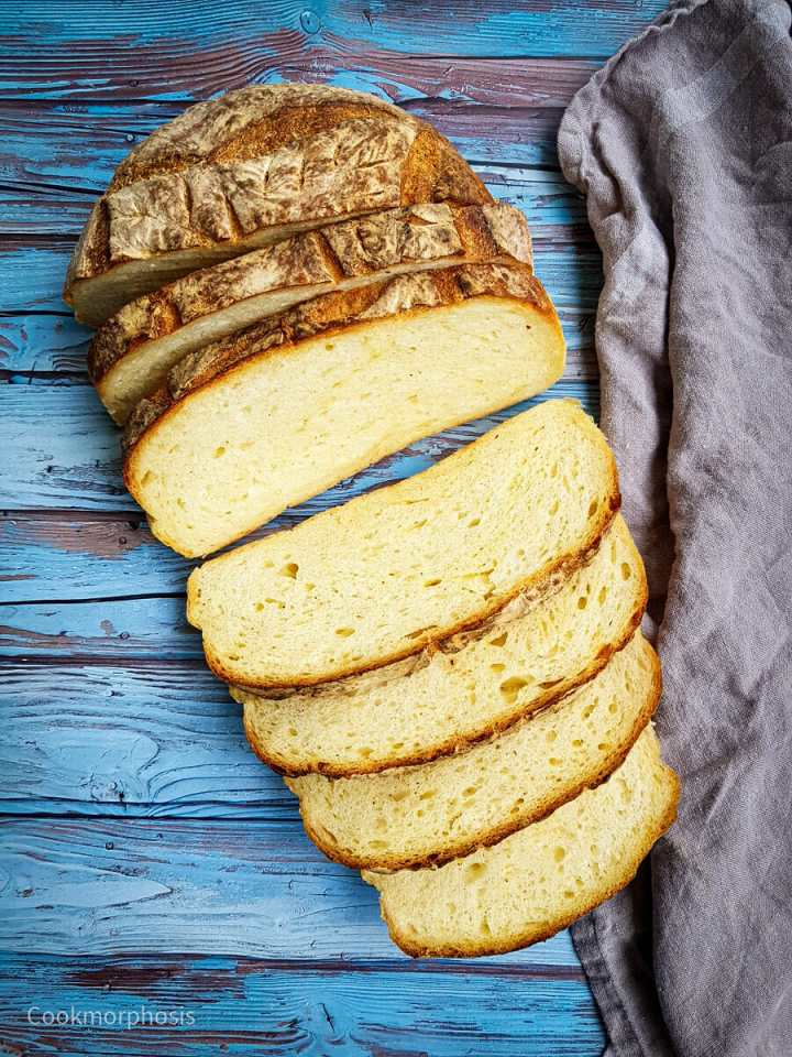 homemade artisan cheddar cheese yeasted bread