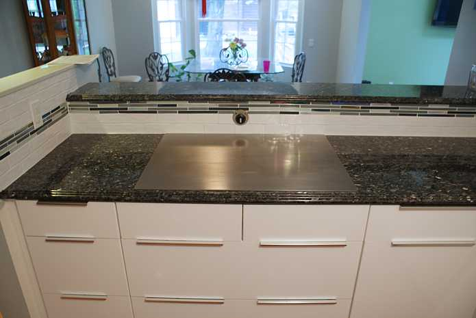 bar top kitchen tables concrete sink teppanyaki grill for the home   electric built in tepan ...