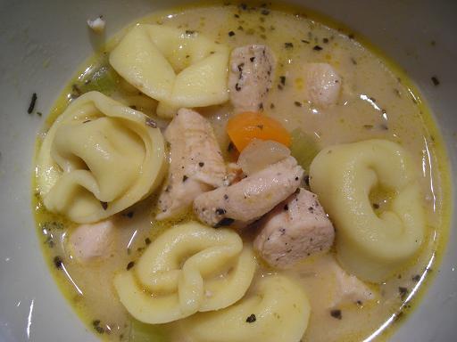 Chicken Alfredo Vegetable Soup WTortellini Kate In The