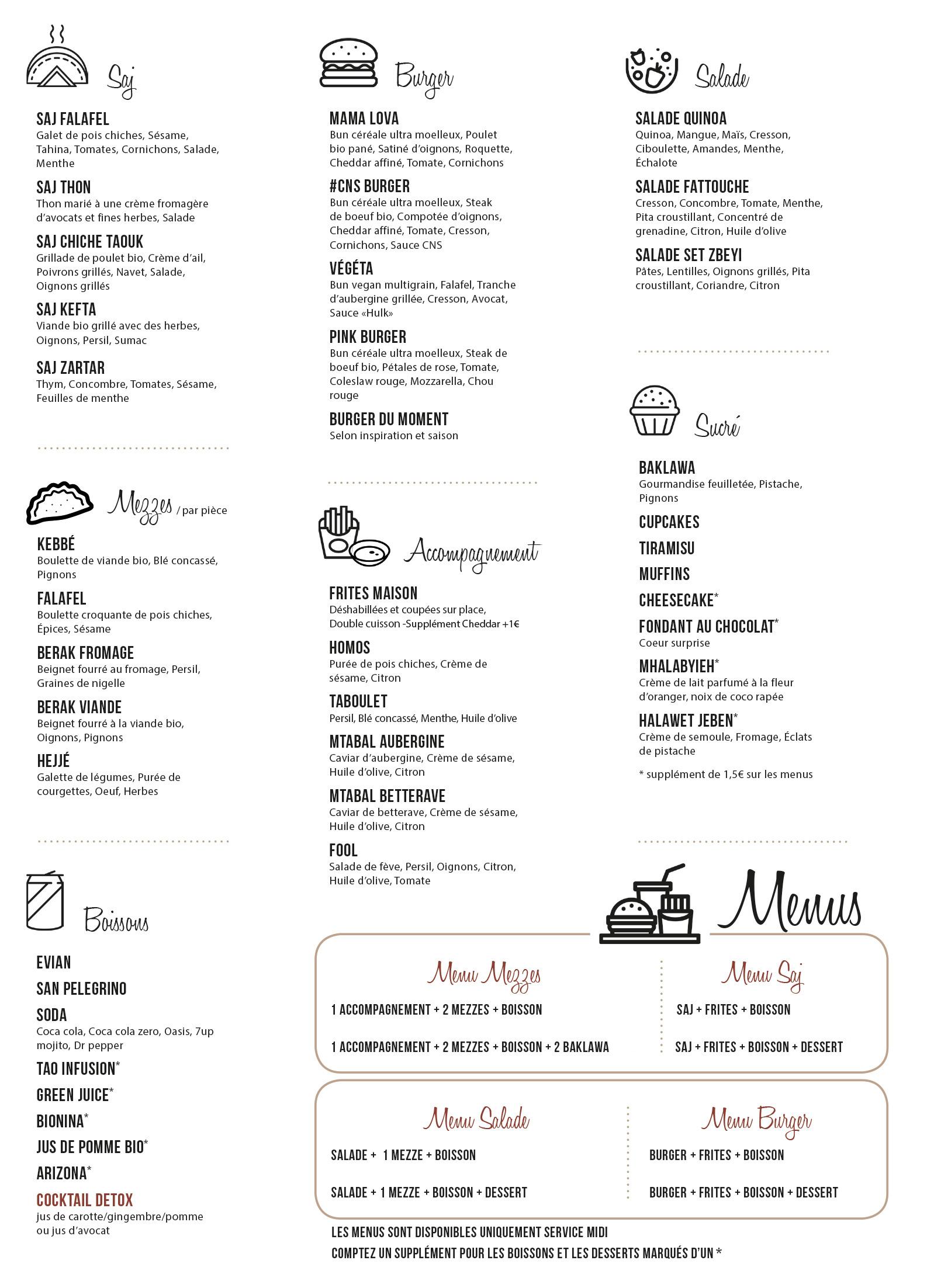 Cookn Saj Salon De Th Sandwicherie Restaurant