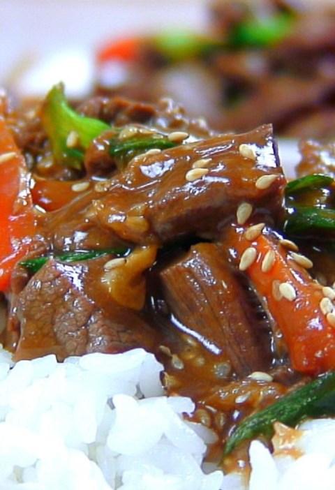 sesame ginger beef