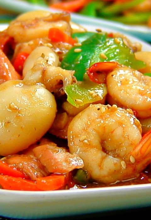 stir fried seafood