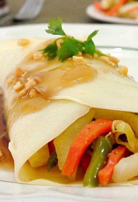 chicken veggie crepe